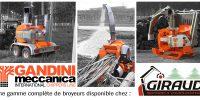 La gamme de broyeurs GANDINI disponible chez Giraud !