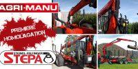 Première homologation officielle pour la remorque forestière Stépa Palfinger chez AGRI MANU