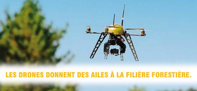 Les drones donnent des ailes à la filière forestière.
