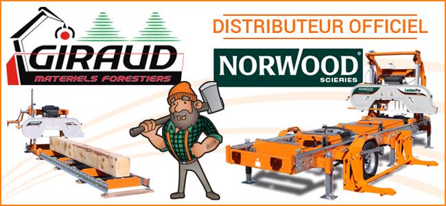 GIRAUD désormais distributeur officiel des scieries NORWOOD