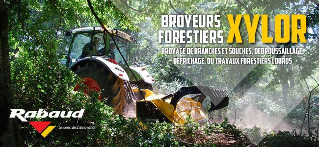 Rabaud élargit sa gamme de broyeurs forestiers XYLOR